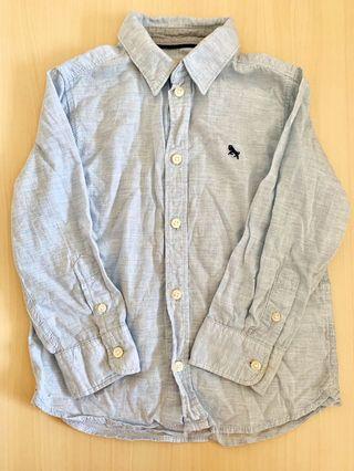 Shirt light blue 粉藍恤衫 上衣 男童 童裝 斯文 休閒