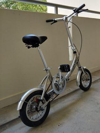 Silver Foldable Bike bicycle Monotine single speed cycle cycling