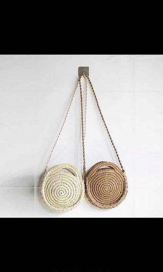 Brand new woven rattan Bali bag in sand #ENDGAMEyourEXCESS
