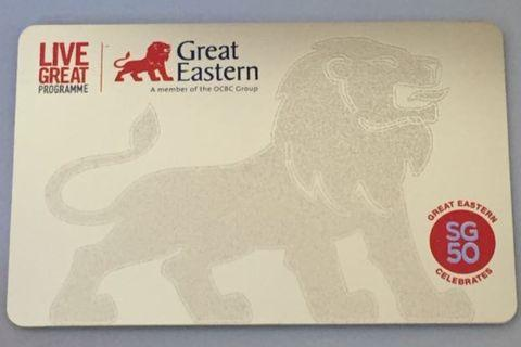 BN Great Eastern GE SG 50 Gold Ezlink Card