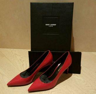 Saint Laurent Ysl Red Patent Heels/pumps/ shoes