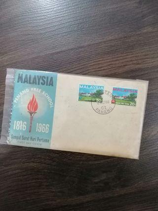 Malaysia 1966 Penang Free School First Day Cover