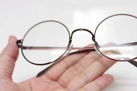 🚚 文青風咖啡色圓框金屬眼鏡