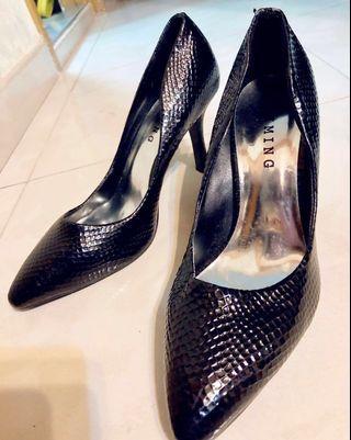 歐式蛇紋漆皮女裝高跟鞋(39碼)