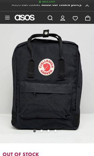 🚚 lf kanken black backpack