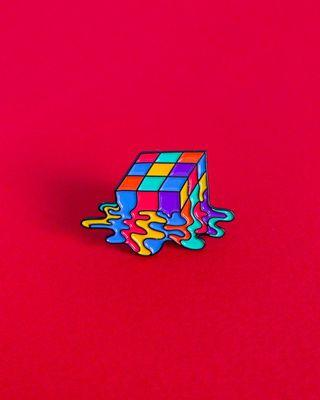 "LGBT gay pride ""Meltdown"" Enamel Pin"