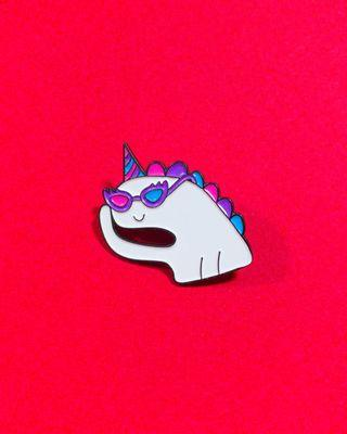 "LGBT gay pride ""Oh bi unicorn!"" soft enamel pin"