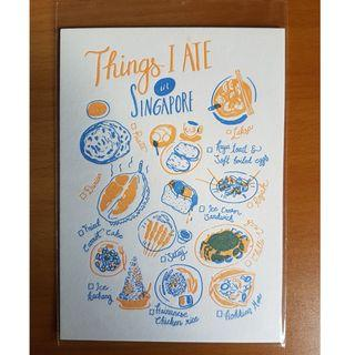Things I Ate in Singapore Postcard