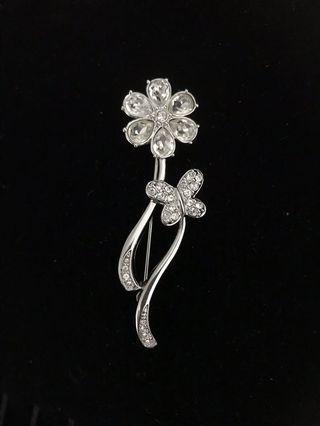 Swarovski- 水晶襟針crystal brooch
