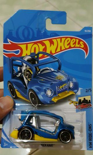 Diecast hot wheels kick kart