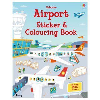 🚚 (BN) Usborne: Airport Sticker and Colouring Book