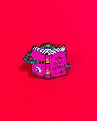 "LGBT gay pride ""The gay agenda"" soft enamel pin"