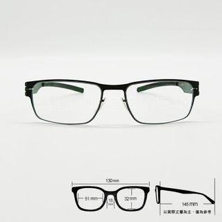 💎德國工藝💎[檸檬眼鏡] ic! berlin Rast Waved Asia002 輕量高彈性無螺絲 光學眼鏡-3