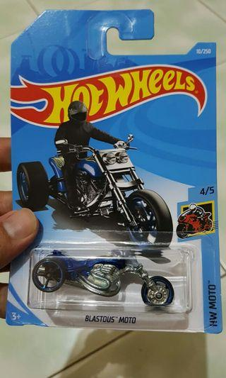 Diecast hot wheels blastous moto