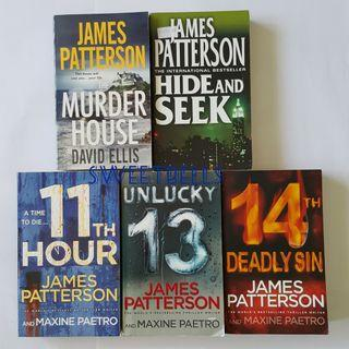 English Fiction Novels by James Patterson