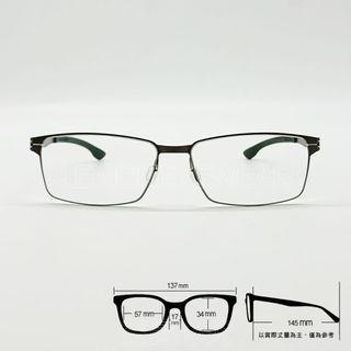 💎德國工藝💎[檸檬眼鏡] ic! berlin Toru N 053 t02 輕量高彈性無螺絲 光學眼鏡-3