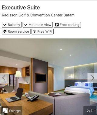 2D1N Executive Suite Stay @ Radisson Golf & Convention Center Batam