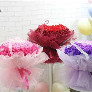 New arrival !  99 stalk scented roses Bouquet (proposal, 21st birthday, Anniversary, Special occasions..🌹)