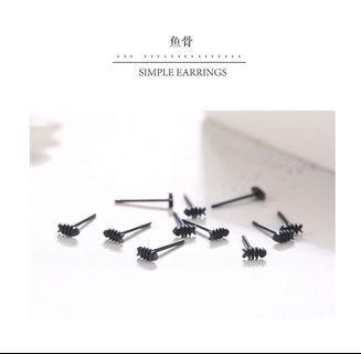 🚚 Black Fishbone Ear Stick