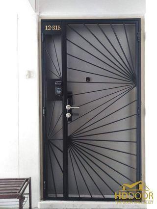 🚚 Mild steel gate and laminated door