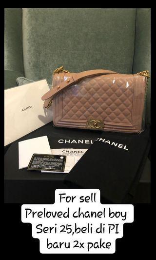 Chanel boy authentic