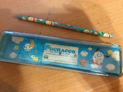 超懷舊PC狗筆盒連鉛筆一枝