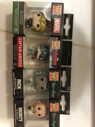 🚚 Marvel Funko pop key chains