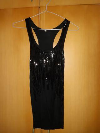 Party sequence black short dress