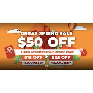 Great Spring Sale $50 Off
