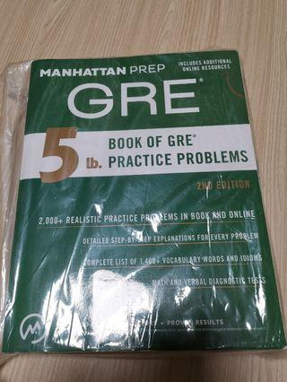 GRE- 5lb book of GRE practice problem