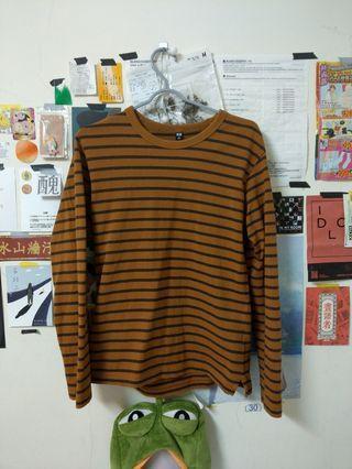 🚚 Uniqlo 條紋長袖衣