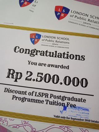 Discount of LSPR Postgraduate