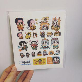 EXO 飯製貼紙 一張 都暻秀 D.O.