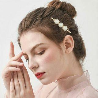 2pcs Women Girls Pearl Hairpins Korean Style Metal Hair Clip Barrette Hairgrip Hair Styling Accessories Fashion Hairstyle