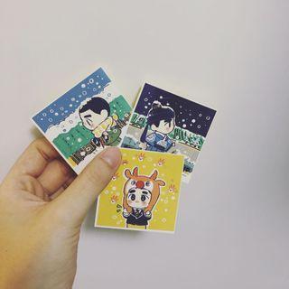 EXO 飯製貼紙 小圓貼 一套3張 都暻秀 D.O.