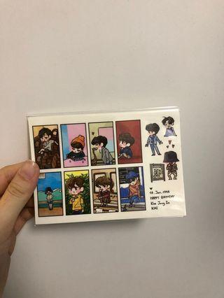 EXO 飯製貼紙 一張 金鐘仁 Kai