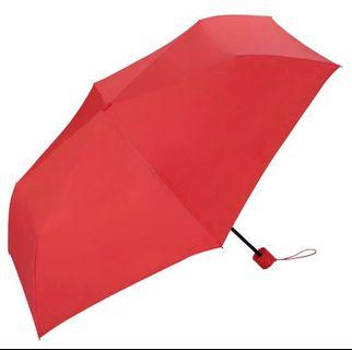 WPC Unnurella日本瞬間滴水不沾縮骨遮 紅色