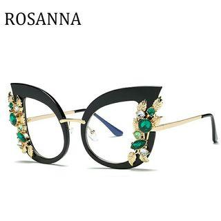 Fashion pearl Cat Eye Glasses Frames Brand Design Vintage Cat Eye Eyeglasses Frame Women  Hot Selling Eyewear