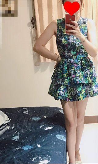 🚚 夏季 浪漫無袖 小洋裝