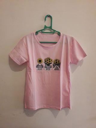 Kaos Pink Sunflower