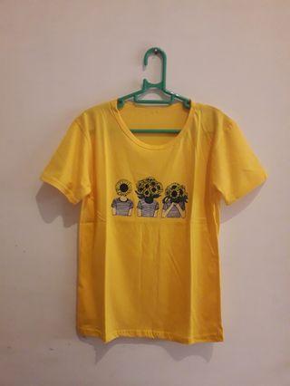 Kaos Kuning Sunflower