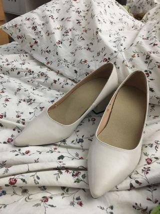 Zara White Block shoes