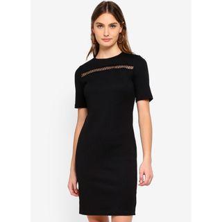 🚚 Dorothy Perkins Black Trim Bodycon Dress