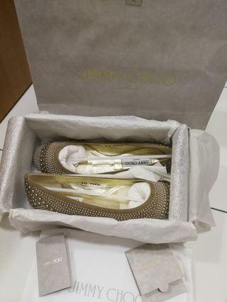 BNIB Authentic Jimmy Choo Ballerinas Flat Shoes