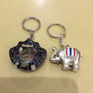 泰國大象及蟹標本匙扣
