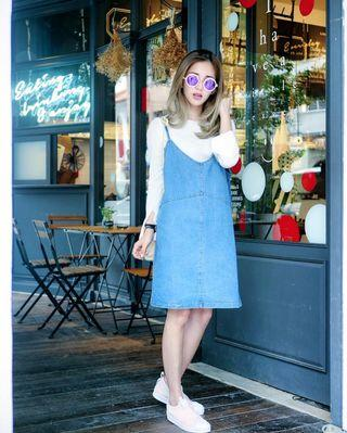 Shoploooh Denim Spag Dress