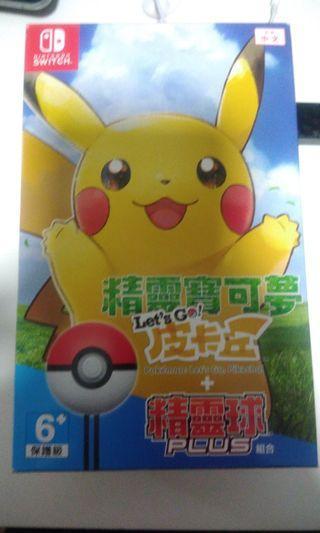 全新 Pokemon lets go 比卡超版 連精靈球