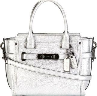 Coach swagger small silver bag