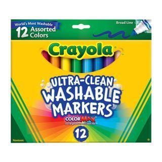🚚 Crayola繪兒樂 可水洗粗頭彩色筆12色