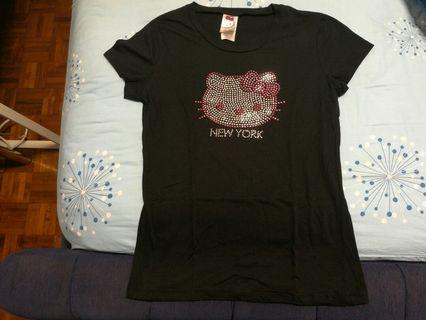 Hello kitty new york t shirt in sequins